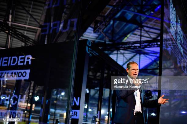 Governing Mayor of Berlin Michael Mueller speaks during the opening of Bread Butter by Zalando at arena Berlin on September 1 2017 in Berlin Germany