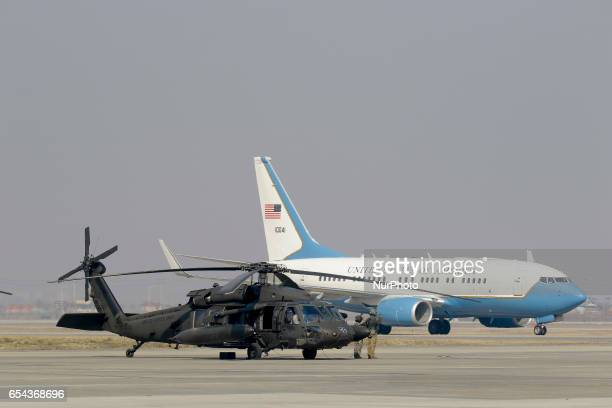 US Government Airplane landing at Osan Military Airbase in South Korea US Secretary of State Rex Tillerson on Friday visited the demilitarized zone...