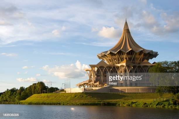 Government building at sunset in Kuching
