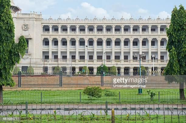 Government building viewed from a garden Vidhana Soudha Bangalore Karnataka India