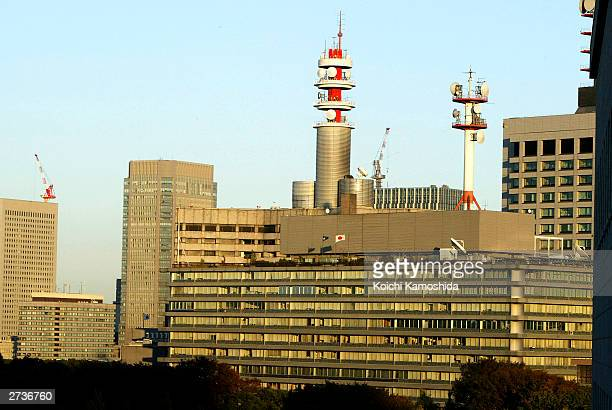 Government buildings are seen in the Kasumigaseki area November 17 2003 in Tokyo Japan AlQaeda has warned Japan that it will strike the capitals...