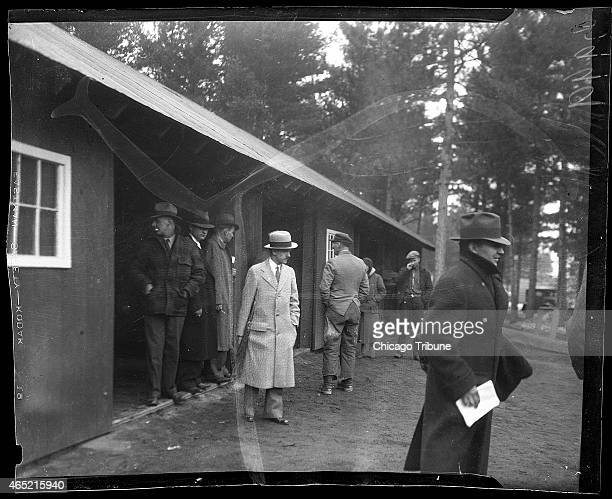 Government men at the Little Bohemia Resort in Manitowish Waters Wisconsin where a gun battle with John Dillinger and his gang took place on April 22...