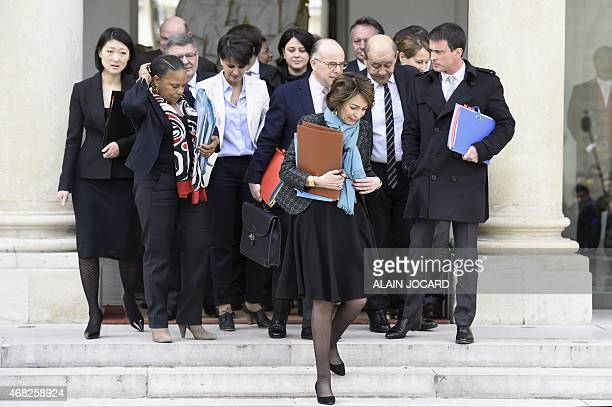 Government ministers French Culture Minister Fleur Pellerin French Justice minister Christiane Taubira French Education Minister Najat...