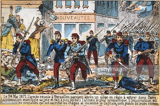 Government soldiers advancing into Paris to suppress the Commune 24th May 1871 The Paris Commune was established when the citizens of Paris many of...
