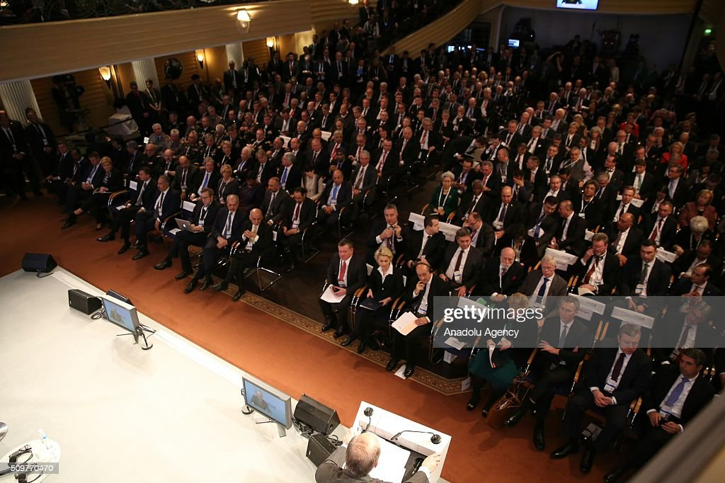 Governments' representatives attend Munich Security Conference at the Bayerischer Hof hotel in Munich, Germany on February 12, 2016.
