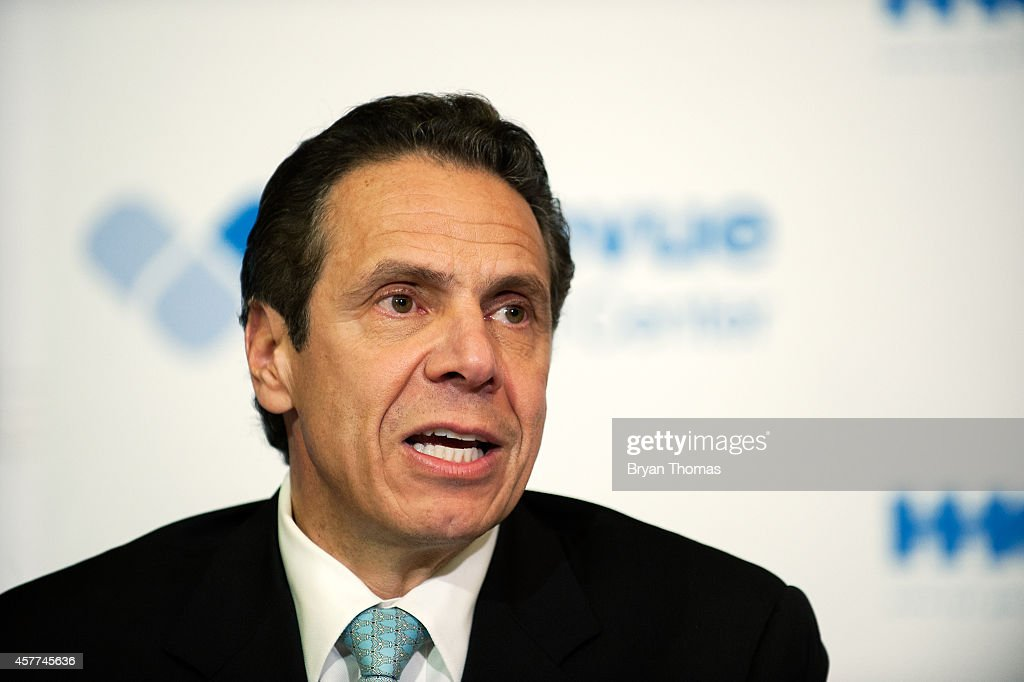 Governor Andrew Cuomo of New York speaks at a press conference October 23 2014 in New York City Governor Andrew Cuomo addressed Dr Craig Spencer who...