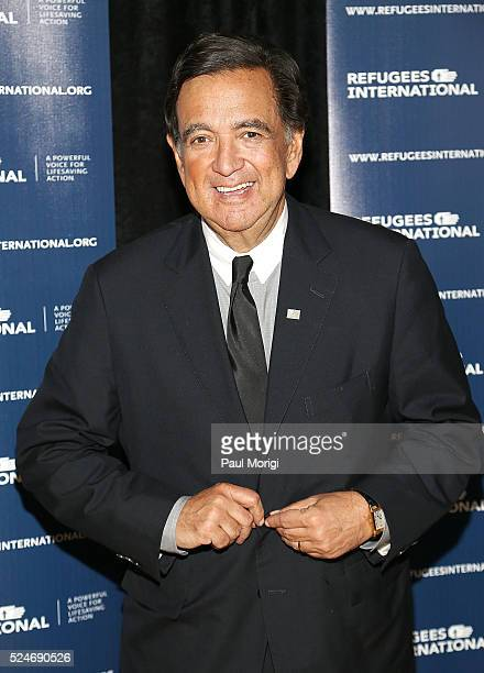 Governor Bill Richardson arrives at the 'Refugees International's 37th Anniversary' Dinner at the Andrew W Mellon Auditorium on April 26 2016 in...