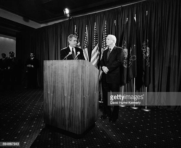 Governor Bush and Senator McCain meet for the first time since McCain conceded the primary election May 9 2000 in Pittsburgh Pennsylvania
