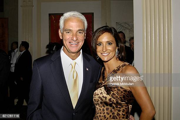Governor Charlie Crist and Carol Rome attend Edwin Gould Services For Children and Families Welcomes you to The ARTRAGEOUS Gala at Cipriani Wall...