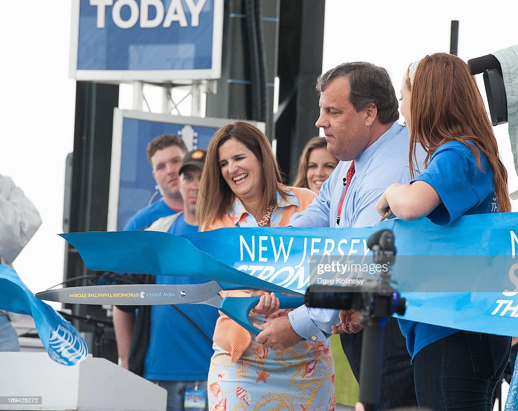 Governor <a gi-track='captionPersonalityLinkClicked' href=/galleries/search?phrase=Chris+Christie&family=editorial&specificpeople=6480114 ng-click='$event.stopPropagation()'>Chris Christie</a> appears on NBC's 'Today' at Seaside Heights on May 24, 2013 in Seaside Heights, New Jersey.