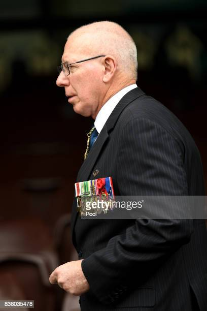 Governor David Hurley attends a State Memorial Service for Australian Olympian Betty Cuthbert at the Sydney Cricket Ground in Sydney Monday August 21...