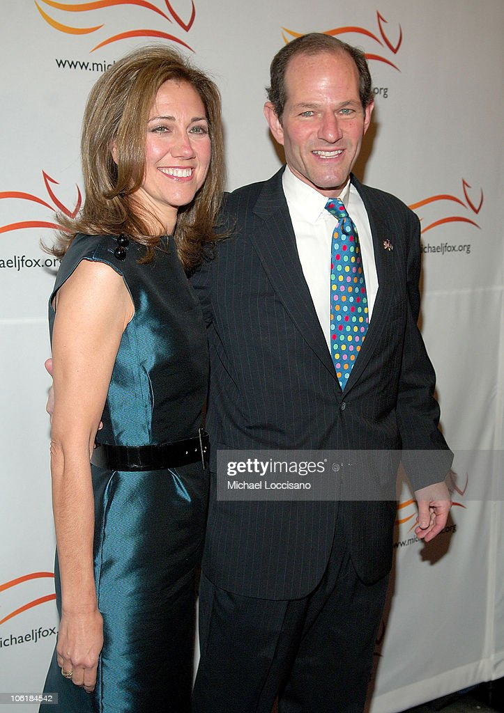Governor Eliot Spitze and wife Silda Wall Spitzer arrive to 'A Groovy Thing Happened On The Way to Cure Parkinson's' benefitting The Michael J Fox...
