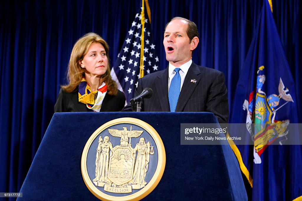 Governor Eliot Spitzer announces his resignation at his midtown office on Wednesday with his wife Silda Spitzer at his side Spitzer resigned under...