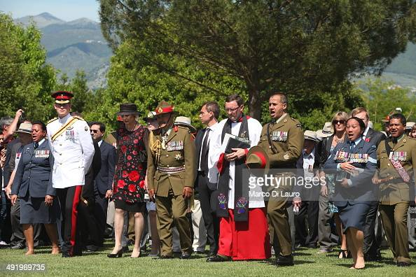 Governor General of New Zealand Jerry Mateparae Lady Janine Mateparae and Prince Harry are seen at the Commonwealth War Graves Commission Cassino War...