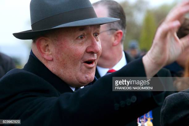 Governor General of the Commonwealth of Australia Peter Cosgrove gestures as he looks on during the Anzac day in tribute of Australians and New...