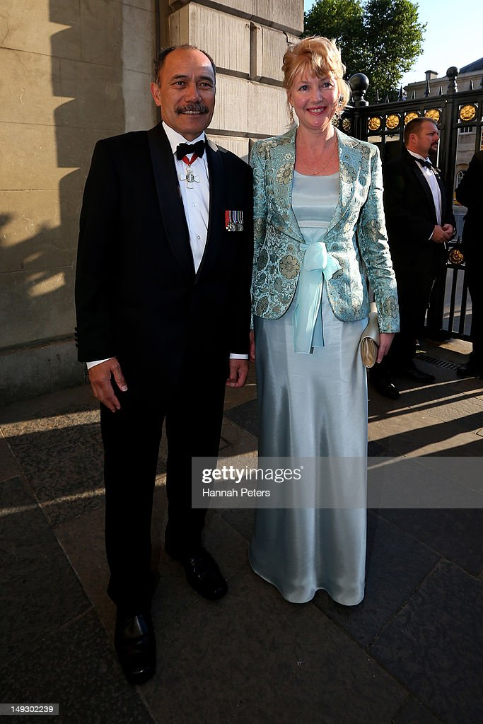 Governor General Sir Jerry Mateparae and his wife Janine Mateparae attend the NZOC Governor General's Gala Dinner ahead of the London 2012 Olympic Games at Banqueting House, Whitehall on July 26, 2012 in London, England.