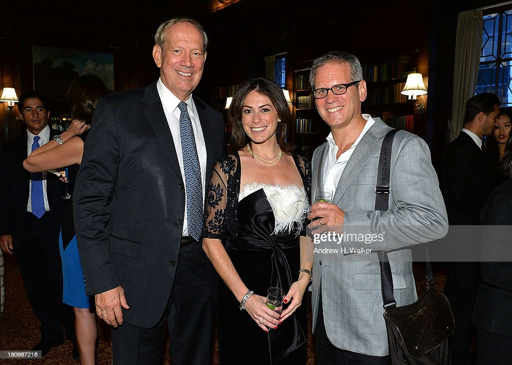 Governor George Pataki, author Katie Nicholl and David Steinberger, President of Perseus Book Group attend the 'Kate: The Future Queen launch party on September 18, 2013 in New York City.