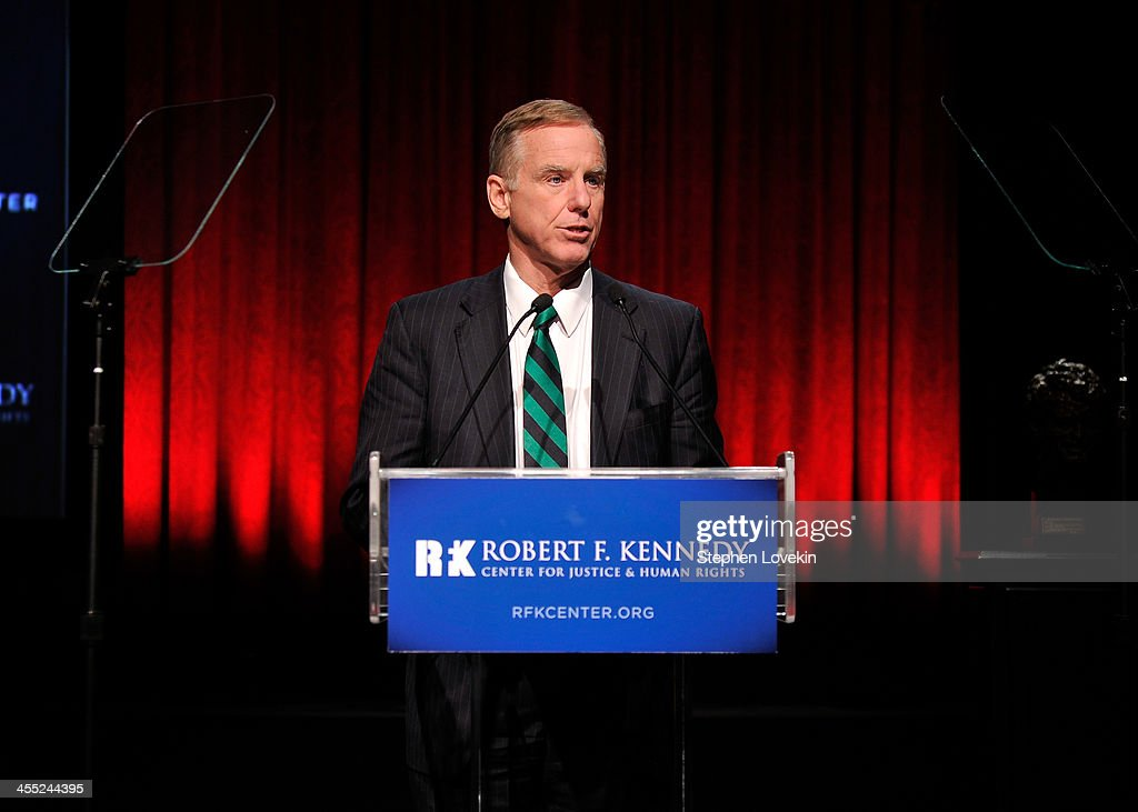 Governor <a gi-track='captionPersonalityLinkClicked' href=/galleries/search?phrase=Howard+Dean&family=editorial&specificpeople=157473 ng-click='$event.stopPropagation()'>Howard Dean</a> speaks onstage at Robert F. Kennedy Center For Justice And Human Rights 2013 Ripple Of Hope Awards Dinner at New York Hilton Midtown on December 11, 2013 in New York City.