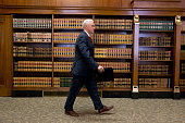 Governor Mike Pence of Indiana holds a press conference March 31 2015 at the Indiana State Library in Indianapolis Indiana Pence spoke about the...