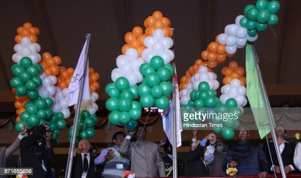 Governor MOH Farook Jharkhand Chief minister Arjun Munda Jharkhand Olympic Association chairman R K Anand former chief minister of Jharkhand Sibu...