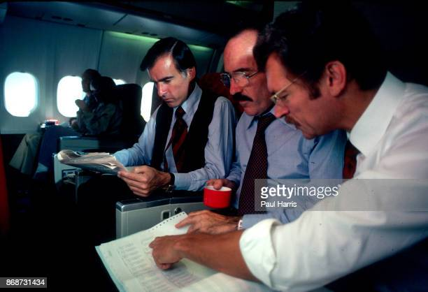 Governor of California Jerry Brown 1975 to 1983 flies to Mexico City on a commercial Jet on June 5 1979
