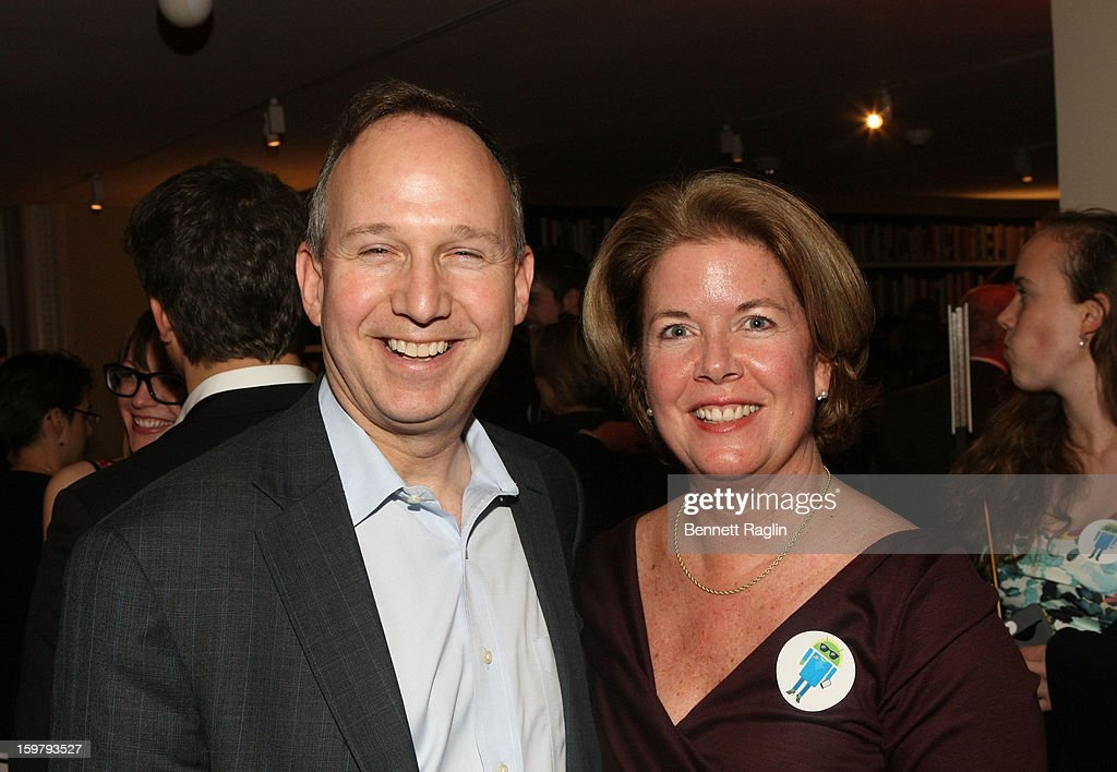 Governor of Delaware Jack A. Markell and wife Carla Markell attend a celebration for leading women in Washington hosted by GOOGLE, ELLE, and The Center for American Progress on January 20, 2013 in Washington, United States.