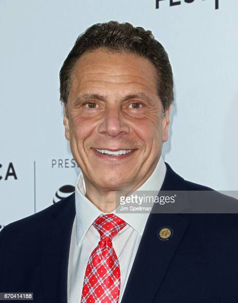 Governor of New York Andrew Cuomo attends the 2017 Tribeca Film Festival 'Clive Davis The Soundtrack Of Our Lives' world premiere opening night at...