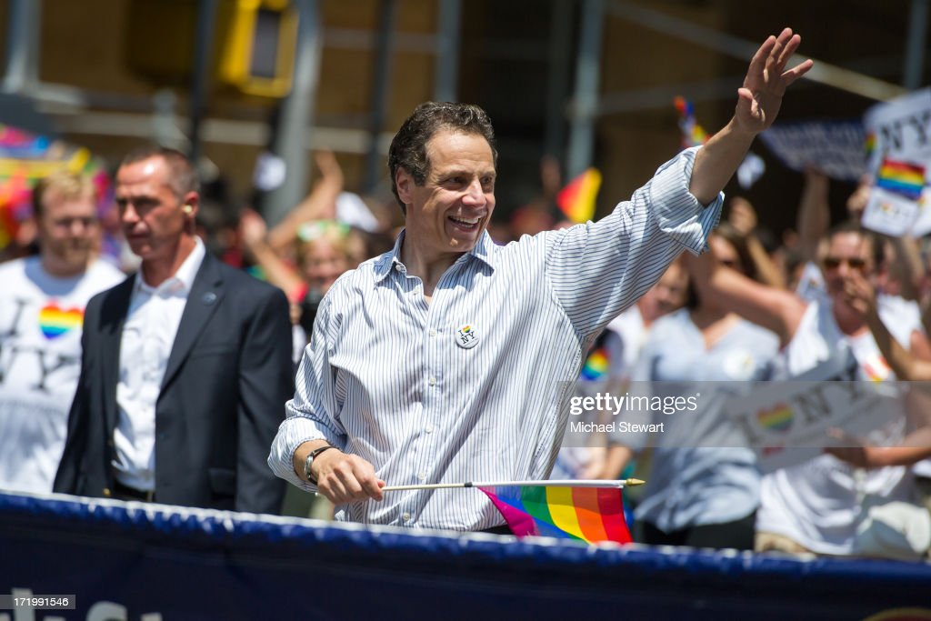 Governor of New York Andrew Cuomo attends The March during NYC Pride 2013 on June 30, 2013 in New York City.