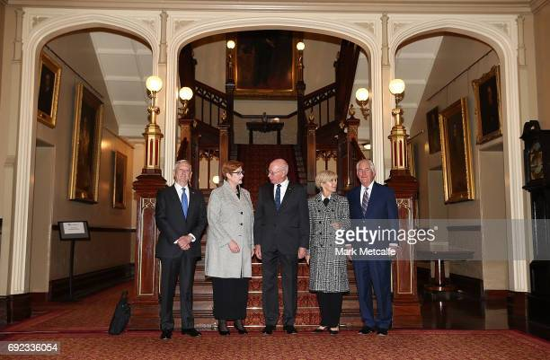 Governor of NSW David Hurley US Secretary of State Rex Tillerson US Secretary of Defence Jim Mattis Australian Minister for Foreign Affairs Julie...