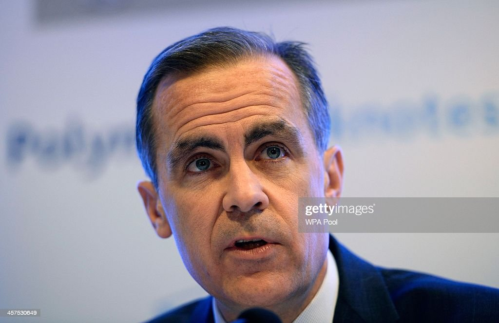 Governor of the Bank of England <a gi-track='captionPersonalityLinkClicked' href=/galleries/search?phrase=Mark+Carney&family=editorial&specificpeople=3028157 ng-click='$event.stopPropagation()'>Mark Carney</a> speaks at a news conference held to announce the outcome of of the polymer bank note consultation at the Bank of England on December 18, 2013 in the City of London, England. The Bank believes that the notes are cleaner, more durable and incorporate advanced secutity features making them more difficult to counterfeit. It was announced that the £5 note will be released into circulation in 2015, with the £10 note likely to follow a year later after the consultation had demonstrated the public's overall support of the new notes.