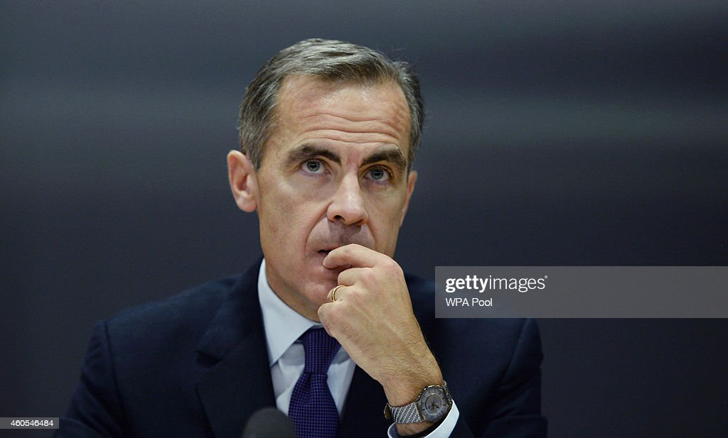Governor of the Bank of England <a gi-track='captionPersonalityLinkClicked' href=/galleries/search?phrase=Mark+Carney&family=editorial&specificpeople=3028157 ng-click='$event.stopPropagation()'>Mark Carney</a> speaks during the Bank of England's Financial Stability Report press conference at the Bank of England on December 16, 2014 in London, England.