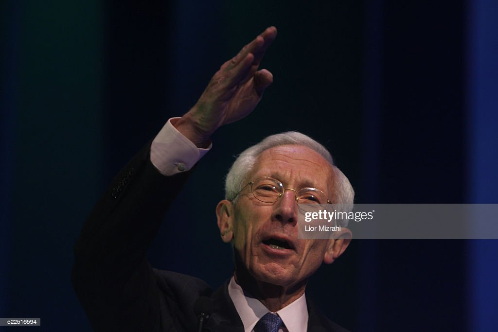 Governor of the Bank of Israel Professor <a gi-track='captionPersonalityLinkClicked' href=/galleries/search?phrase=Stanley+Fischer&family=editorial&specificpeople=233518 ng-click='$event.stopPropagation()'>Stanley Fischer</a> speaks during a conference on November 19, 2008 in Jerusalem, Israel.