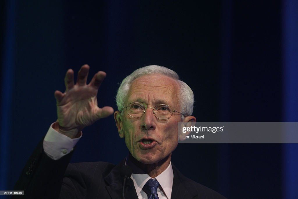 Governor of the Bank of Israel Professor Stanley Fischer speaks during a conference on November 19, 2008 in Jerusalem, Israel.