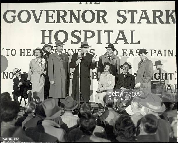 Governor Stark played by Broderick Crawford plans the new hospital in this scene from 'All the King's Men' 1949 Columbia picture produced by Robert...