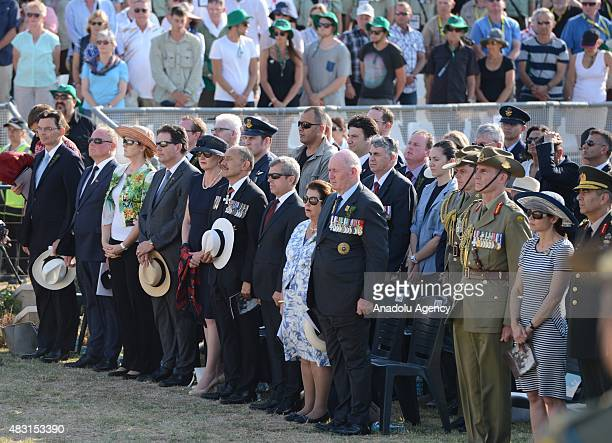 GovernorGeneral of Australia Peter Cosgrove and GovernorGeneral of New Zealand Jerry Mateparae attend an extra remembrance ceremony to mark the 100th...