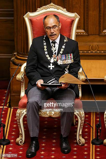 GovernorGeneral Sir Jerry Mateparae gives his speech from the throne during the 51st Parliament's State Opening Ceremony at Parliament on October 21...