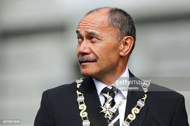 GovernorGeneral Sir Jerry Mateparae looks on during the 51st Parliament's State Opening Ceremony at Parliament on October 21 2014 in Wellington New...