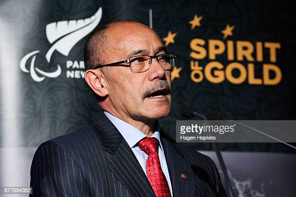 GovernorGeneral Sir Jerry Mateparae speaks during the 2016 New Zealand Paralympic Games team presentation at Sky City on July 19 2016 in Auckland New...