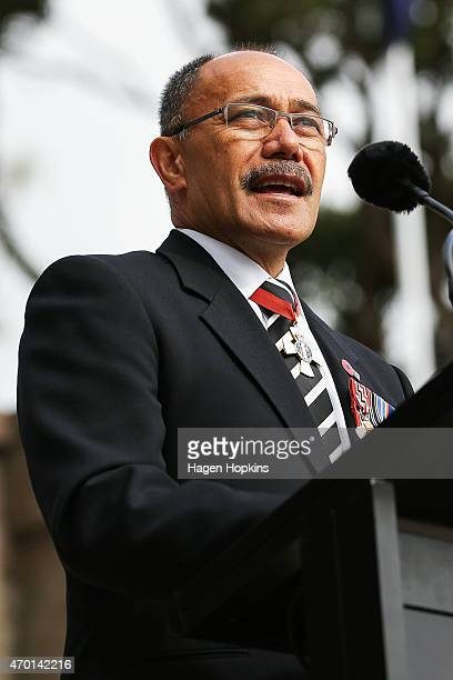 Governorgeneral Sir Jerry Mateparae speaks during the official opening of the Pukeahu National War Memorial Park on April 18 2015 in Wellington New...