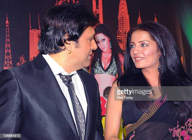 Govinda and Celina Jiatley at a promotional event in Mumbai on November 12 2010