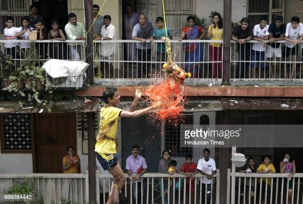 Govinda Revellers at Dadar in Mumbai on Thursday