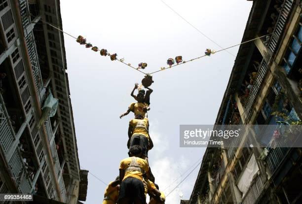 Govinda Revellers at Krishna Nagar Parel in Mumbai on Thursday