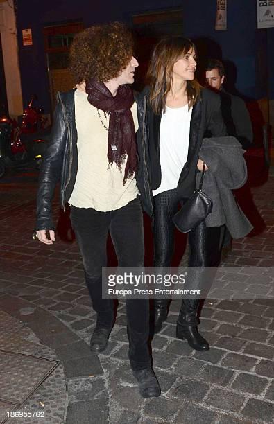 Goya Toledo and Craig Ross are seen leaving 'El Interprete' Theatre play on November 1 2013 in Madrid Spain