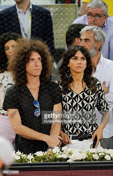 Goya Toledo and Craig Ross attend Mutua Madrid Open at La Caja Magica on May 11 2014 in Madrid Spain