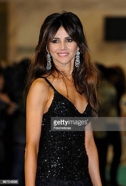 Goya Toledo arrives to the 2010 edition of the 'Goya Cinema Awards' ceremony at the Palacio de Congresos on February 14 2010 in Madrid Spain
