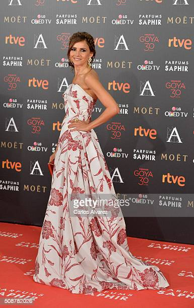 Goya Toledo attends Goya Cinema Awards 2016 at Madrid Marriott Auditorium on February 6 2016 in Madrid Spain
