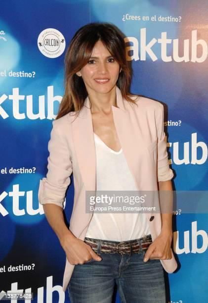 Goya Toledo attends 'Maktub' film photocall on December 13 2011 in Barcelona Spain