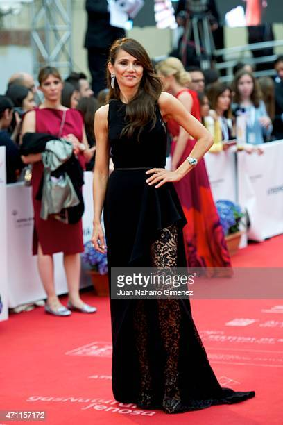 Goya Toledo attends the 'Solo Quimica' premiere during the 18th Malaga Spanish Film Festival at the Cervantes Theater on April 25 2015 in Malaga Spain