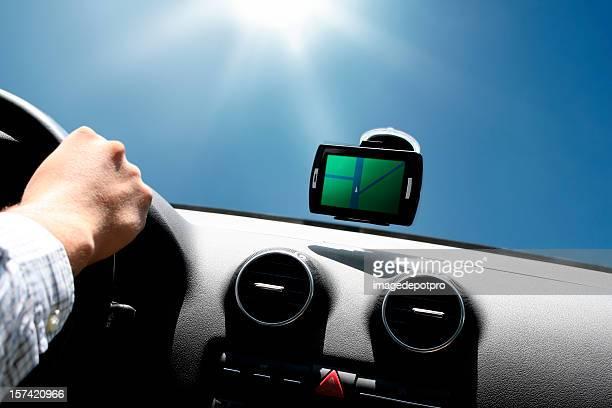 gps driving under sun