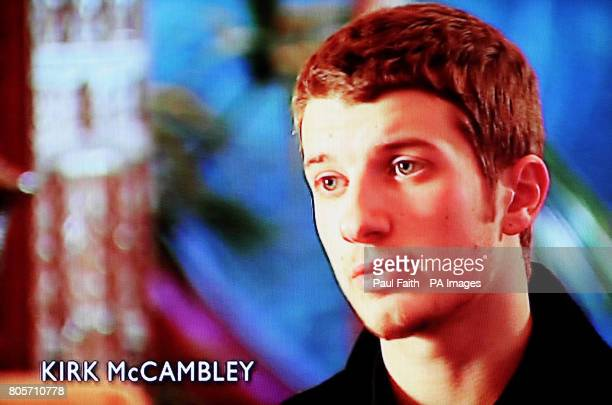 Grab taken from the Spotlight programme broadcast tonight in the province showing Kirk McCambley who had an affair with Iris Robinson the wife of...